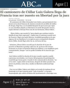 ABC - El camionero de Cúllar Luis Galera llega de Francia tras ser puesto en libertad por la juez