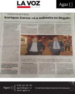 "La Voz de Cádiz - Enrique Zarza: ""La subasta es ilegal"""
