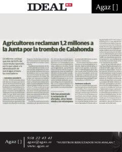 Ideal - Agricultores reclaman 1,2 millones a la Junta por la tromba de Calahonda