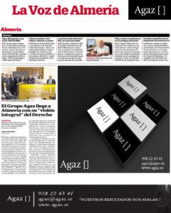 """La Voz de Almería - El Grupo Agaz llega a Almería con su """"visión integral"""" del Derecho"""